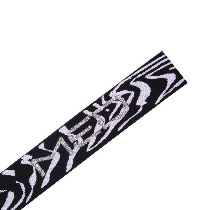 Custom logo elastic and jacquared elastic band